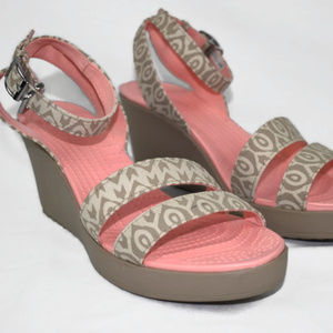 Crocs Strappy Wedge Sandals